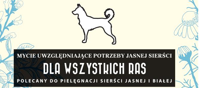 szampon naturalny dla psów o jasnej sierści - etykieta